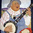 "06. Banjo Player (48"" x 60"" x 12"") $10,000"
